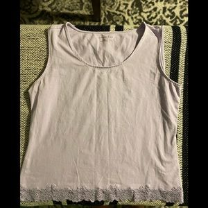 COLDWATER CREEK TANK TOP LILAC COLOR